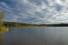 在乔治王子附近负担湖, BC 免版税库存照片