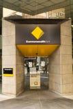 在乔治街,悉尼上的澳洲联邦银行 免版税库存照片