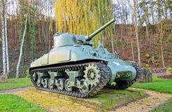 在乔治S纪念品的美国坦克  patton 库存图片