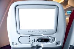 在乘客座位的LCD显示器 库存图片