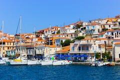 在九头蛇海岛,希腊 免版税库存图片