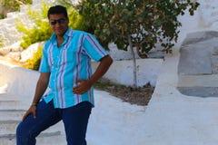 在九头蛇海岛,希腊 免版税库存照片