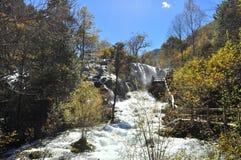 在九寨沟的瀑布 库存图片