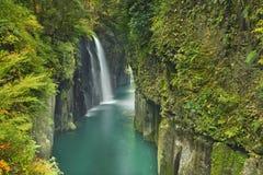 在九州岛上的高千穗峡谷,日本 免版税图库摄影