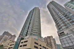 在九龙的香港房屋建设 免版税库存图片