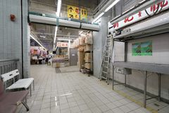 在九龙的香港湿市场 免版税库存照片