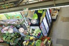 在九龙的香港湿市场 库存照片
