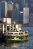 在九龙码头靠码头的星轮渡 图库摄影