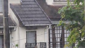 在乡间别墅的看法从窗口、多雨阴沉的天、坏心情和寂寞 股票视频