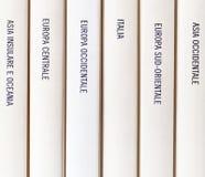 在书写的欧洲地理 免版税库存照片