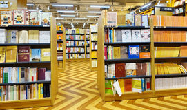 在书店的书 免版税库存图片