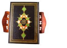 在书摊v的圣洁古兰经 免版税库存图片
