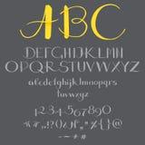 在书法的字母表 库存图片