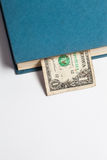 在书的美元,隔绝在白色背景,企业tra 库存照片