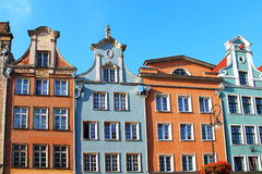 在买多市场街道,格但斯克,波兰的大厦 免版税库存图片
