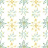 在乱画样式的花卉无缝的花卉样式 免版税库存图片