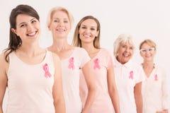 在乳腺癌争斗的支持 免版税库存照片