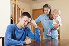 在争吵以后在家 免版税库存照片