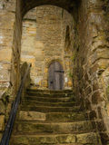 在争斗修道院的步海斯廷斯的 免版税库存照片