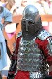 在争斗前的中世纪骑士 免版税库存照片