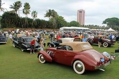 在事件的罕见的经典美国汽车 免版税库存图片