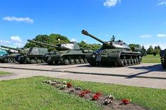 在二战期间的苏联坦克 免版税库存图片