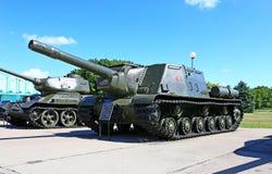在二战期间的苏联坦克 免版税库存照片