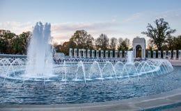 在二战纪念品的喷泉 免版税库存图片