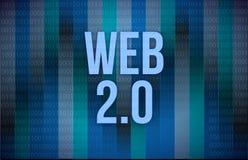 在二进制编码的网2.0文本 库存照片