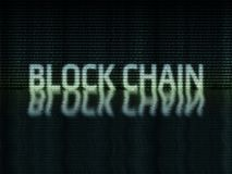 在二进制zero-one格式写的块式链文本 库存例证