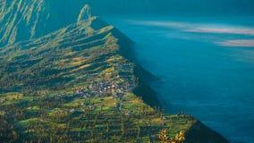 在云彩上的村庄 免版税库存图片