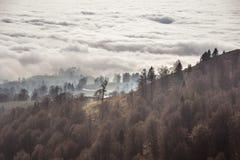 在云彩上的秋天 图库摄影