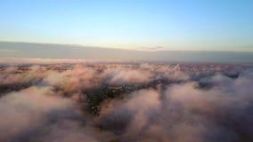在云彩上的鸟瞰图 影视素材