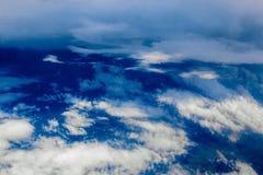 在云彩上的Cloudscape视图 库存图片