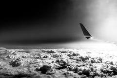 在云彩上的Dystopic图象 图库摄影