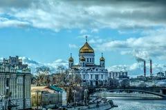 在云彩下的莫斯科 库存照片