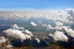在云彩中 库存照片