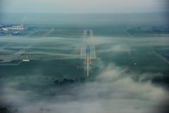 在云彩之上-在天空 免版税库存图片