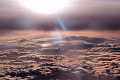 在云彩之上 库存图片
