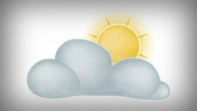 在云彩之后的太阳 向量例证