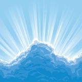 在云彩光束之后 向量例证