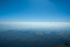 在云彩天空之上 库存照片