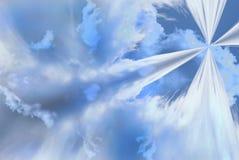 在云彩摘要外面 库存图片