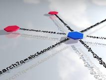 在云彩概念性引擎图象附近关键字在优化seo上写字 免版税库存图片
