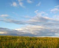 在云彩浮动上的天空 免版税库存图片