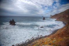 在云彩海岛山路tenerife之上 图库摄影