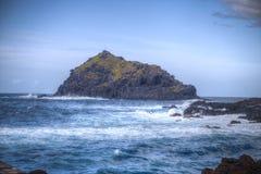 在云彩海岛山路tenerife之上 免版税库存图片