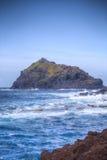 在云彩海岛山路tenerife之上 免版税库存照片