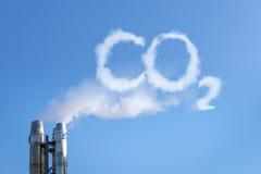 在云彩的二氧化碳 免版税图库摄影