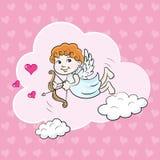在云彩的天使 免版税库存图片